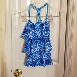 Justice 2 piece girls size 16 bathing suit